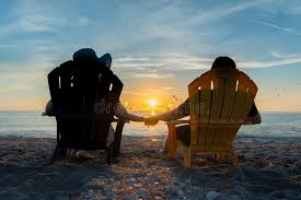 adirondack chairs on beach sunset. Interesting Chairs Download Couple Watching The Sunset On Beach Stock Image  Of Beach  Rest And Adirondack Chairs N