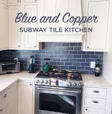 Small Picture Blue and Copper Subway Tile Kitchen