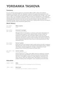 Mba Resume Wonderful 693 Mba Student Resume Samples VisualCV Resume Samples Database