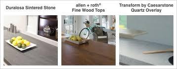 kitchen countertops quartz. Specialty Countertops Include Duralosa Sintered Stone, Allen And Roth Fine  Wood Tops, Quartz Kitchen