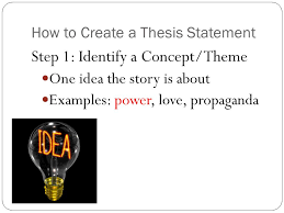 how to write a thesis statement what is a thesis an arguable  3 how to create a thesis statement step 1 identify a concept theme one idea the story is about examples power love propaganda