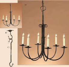 1831 1 candle chandelier 6 arm