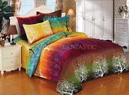 awesome rainbow tree duvetdoonaquilt cover set queenking sizesuper throughout duvet cover queen set