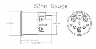 52mm water temperature gauge gt40 tags 52mm water coolant temperature