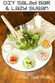 easy salad bar and lazy susan diy freetimefrolics com