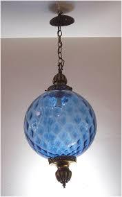 vintage hanging light fixture swag lamp chain cord mid century vintage hanging light fixture swag lamp chain cord mid century modern mood lighting blue glass globe pendant light blue brass