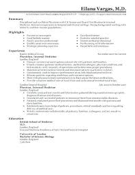 Physician Curriculum Vitae Template Cool Physician Resume Sample Physician Resume Sample Medical Doctor