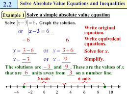 solve absolute value equations and inequalities