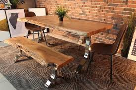 awesome design ideas living edge dining table acacia live with chrome y shaped legs natural color wazo furniture