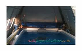 here is the diy retractable swimming pool cover all rolled up