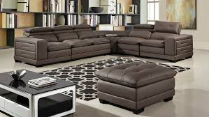 details about 6pc taupe full microfiber leather sectional loveseat chair corner ottoman set