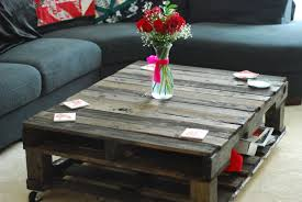 Living Room Table Homemade Wood Coffee Table 7 Upcycled Wooden Pallet Coffee Table