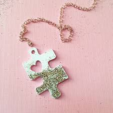 diy puzzle piece necklace 100 directions