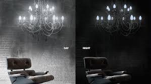 inilelab light light glow in the dark wallpaper chandelier