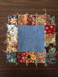 305 best images about Quilts Quilts Quilts on Pinterest | Wedding ... & The blue jean squares were cut at 6 the flower prints were cut at 2  Finished block, 10 inches. an idea for the jean scraps and the floral stash Adamdwight.com