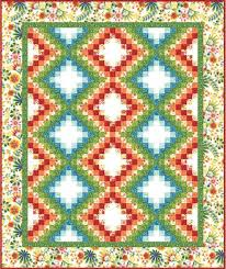 Free Downloadable Quilt Patterns & Happy Garden Quilt Pattern by Kona Bay Fabrics.