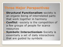 major theoretical perspectives in sociology explanation from the dalton conley link 5 three major perspectives
