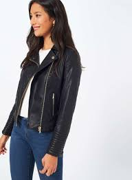 gallery previously sold at miss selfridge women s denim biker jackets women s faux