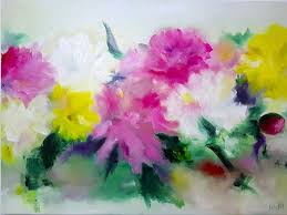 saatchi art artist anna lubchik painting abstract flowers oil painting peonies painting original
