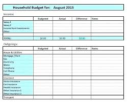How To Make A Monthly Budget On Excel Printable Monthly Budget Template Simple Home Renovation Free Blank