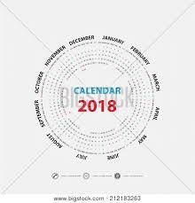 Circle Calendar Template 2018 Calendar Template Calendar For 2018 Year Calendar