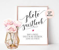 Photo Guestbook Sign Wedding Sign Reception Sign Ceremony Sign