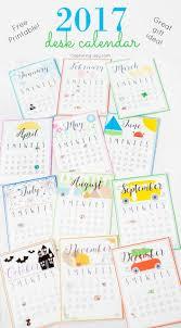 2017 desk calendar gift idea