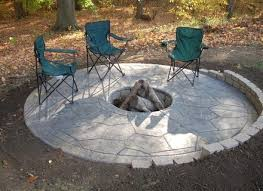 concrete patio with square fire pit. Fire Pit Patio Area Wanting To Make Your Own Concrete Here Are With Square