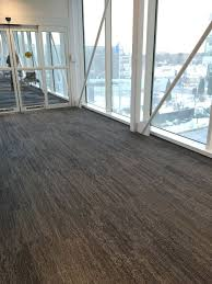 commercial carpet design. interface carpet tile, vermont, installed in a skyway. designcommercial commercial design