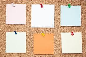 Cork Memo Boards Blank memo notes on cork board Stock Photo Colourbox 2