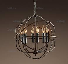 industrial lighting chandelier. Rh Industrial Lighting Restoration Hardware Vintage Pendant Lamp Foucault Iron Orb Chandelier Rustic Gyro Loft Light 50cm 65cm Flush Ceiling Lights