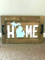 wooden state wall art oden state wall art home serving tray sign rustic od metal contiguous map image 0 state wall art