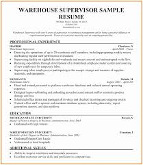 Warehouse Resume Format Delectable Warehouse Supervisor Resume Sample Delighted Resume Objective