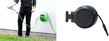 automatic hose reel garden storage box holder