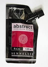 Sennelier Abstract Innovative Acrylic Artist Paint Pouch 120ml 686b Primary Red High Gloss