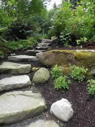 Garden:Stone Garden House Sculpture Idea Natural Stone Steps In Stone  Garden Idea