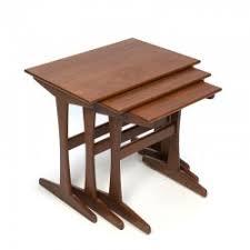 vintage teak furniture. Vintage Teak Wooden Side Tables Set Of 3 Furniture