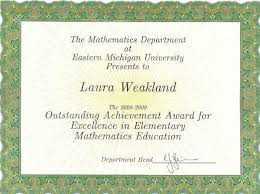 achievement awards for elementary students student web site laura weakland awards scholarships rcampus