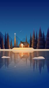 Winter night Minimalist Mobile ...
