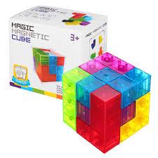 mofun magnetic toys 3d magic fidget cube blocks toys diy building model toy banggood com