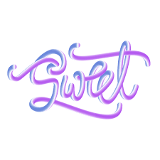 the final 3d lettering made with the blend tool