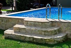 Die flachen steinplatten aus naturstein oder beton werden dann. Natursteintreppe Zum Pool Gartengestaltung Mit Naturstein Leipzig Krostitz
