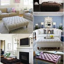 Decorating An Ottoman With Tray FURNITURE Exciting Living Room Furniture Design With Ottoman Coffee 53