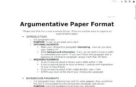 An Example Of An Argumentative Essay Examples Of Argumentative Essay Argumentative Essay Example For
