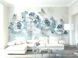 blue wallpaper for walls bedroom light elegant flower erfly background wall papers home decor designers free