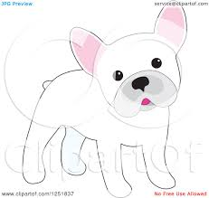 cute french bulldog clipart. Fine French Clipart Of A Cute White French Bulldog Cocking Its Head  Royalty Free  Vector Illustration By Maria Bell Intended R