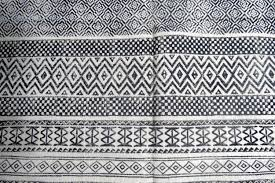 block printed cotton dhurrie rugs india dr6