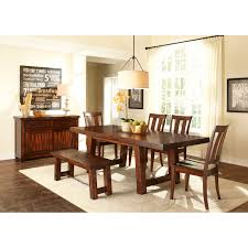 A-America Toluca Rectangular Extension Dining Table - Rustic Amber    Hayneedle