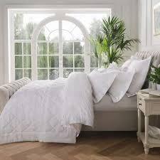 Dorma Fern White Bedspread   Dunelm & Dorma Fern White Bedspread Adamdwight.com