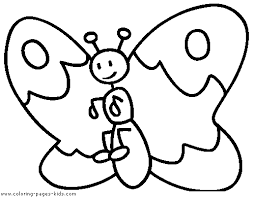Easy Butterfly Coloring Page For Toddlers